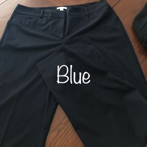 New York and company navy blue dress pants